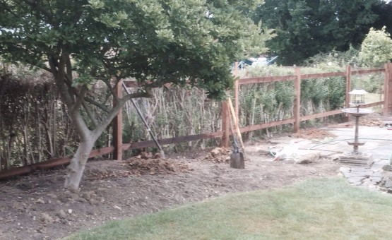 residential fence before